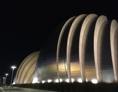 Kaufmann Center for the Performing Arts at night